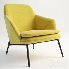 3d модели: Кресла - GRAMERCY HOME - HUG ARMCHAIR 602.014