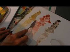 LifeART Studio demonstration: How to use YELLOW OCHRE, BURNT SIENNA, BURNT UMBER to mix skin tones.