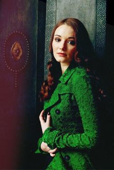Picture of Maria Ehrich Foreign Movies, Red Blue Green, Emerald Green, Green Coat, Love Movie, Ruby Red, Female Characters, Character Inspiration, Actors & Actresses