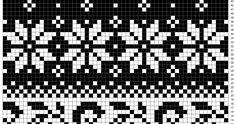 Her har jeg tegnet et strikkemønster basert på to gamle norske strikkemønstre ♥  Jeg har kalt dette mønsteret for Telemark :) Bla...