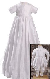 Christening outfit baby gown boys convertible silk for baptism