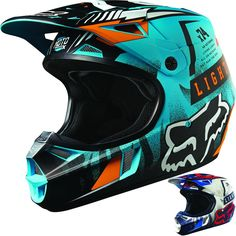 Fox Racing V1 Vicious Youth Dirt Bike Off Road Motocross Helmets
