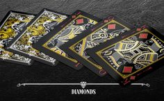 #Diamonds BlackEdCards01 - Max Playing Cards