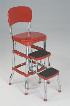 Lehman's - Retro Kitchen Stools - NEED! What kitchen didn't have this in the 60's??
