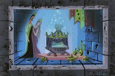 Sleeping Beauty concept art by Eyvind Earle.