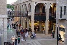 Mamilla Mall - at the end of the Mall is the Old City (Jerusalem)