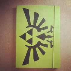 #cuaderno #papel #reciclado #verde #zelda #triforce #notebook