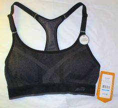 Item ID: 381928910475 Women's Size M (8/10) AVIA Sports Bra Black/Gray Accent NWT Padded Low Impact #Avia