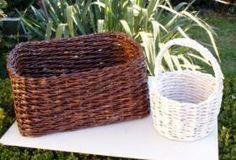 Pletení z papíru - pletení koše