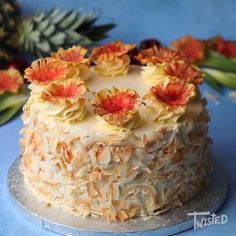 Piña Colada Cake - The Best Video Recipes for All Just Desserts, Delicious Desserts, Yummy Food, Baking Recipes, Cake Recipes, Dessert Recipes, Bolos Naked Cake, Pina Colada Cake, Rum Cake
