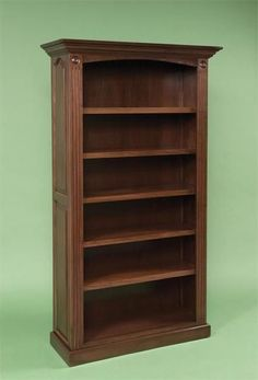Amish Premium Raised Panel Solid Wood Bookcase Elegant and strong, this bookcase is built in the solid wood of your choice. American made wood furniture for office. #bookcase #officefurniture Solid Wood Bookshelf, Wooden Shelving Units, Pine Bookcase, Bookcase With Glass Doors, Antique Bookcase, Reclaimed Wood Shelves, Wood Bookshelves, Bookshelf Design, Bookshelf Ideas