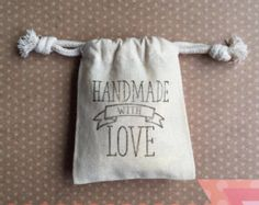 Hand Stamped Favor Bags by FlowsFavors on Etsy