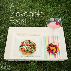 Here's a stylish yet inexpensive idea for outdoor entertaining: Create a moveable feast! | Smarty Had A Party