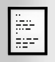 In Morse Code. Would be cute to make a love note to your husband. :)