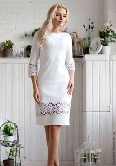 Cute fashion outfits ideas – Fashion, Home decorating Elegant Dresses, Pretty Dresses, Beautiful Dresses, Casual Dresses, Lace Dress, Dress Up, White Dress, Dress Outfits, Fashion Dresses
