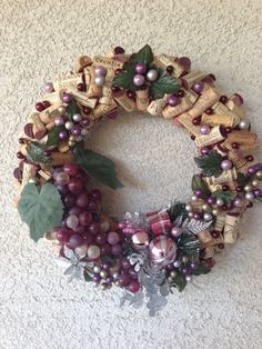Upcycled Used California Wine Cork Christmas Wreath by BellaVinos, $75.00