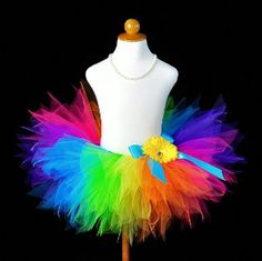 Bright Colorful Rainbow Tutu Skirt - to make for Bella for Christmas