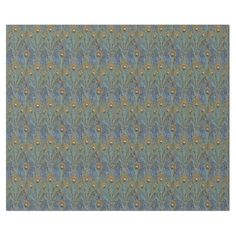 Peacock Tail in Blue Pattern Wrapping Paper
