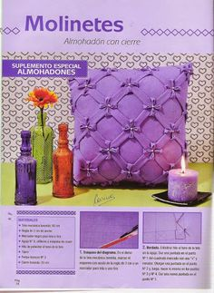 Canadian Smocking, Smocking Patterns, Flower Brooch, Hobbies And Crafts, Glass Vase, Candle Holders, Album, Pillows, Sewing