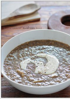 Can healthy eating influence cancer?: (mushroom soup)