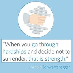 """""""Strength does not come from winning. Your struggles develop your strengths. When you go through hardships and decide not to surrender, that is strength. Arnold Schwarzenegger, Business Quotes, Strength, Instagram Posts, Electric Power"""