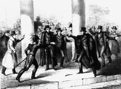 Richard Lawrence attempts to assassinate President Andrew Jackson on Jan. 30, 1835, outside the Capitol.