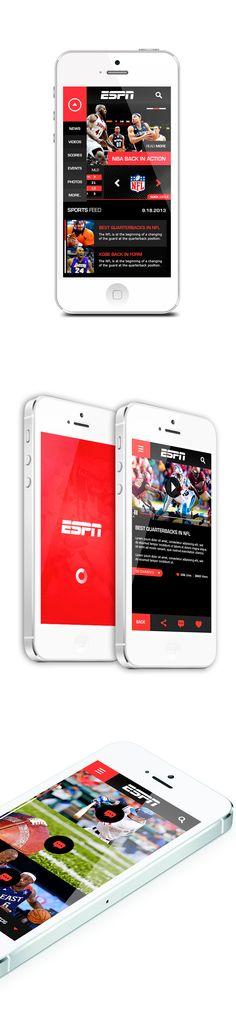 ESPN iPhone 5 App Concept