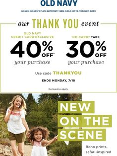 30% OFF new arrivals + Clearance. #summerfridays - Old Navy