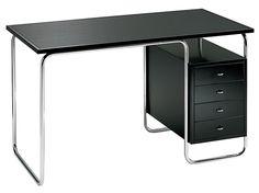 Stainless steel office desk with drawers COMACINA by Zanotta design Piero Bottoni Bureau Design, Office Furniture, Office Desk, Furniture Design, Retro Desk, Drawer Design, Glam Room, Desk Storage, Desk With Drawers