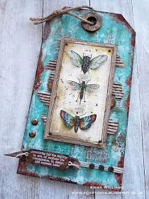 Hello everyone! Hope you all had a great weekend and ready for the new week ahead and a brand new Simon Says Stamp Monday Challenge ! Atc Cards, Card Tags, Gift Tags, Art Journal Pages, Junk Journal, Art Journals, Handmade Tags, Paper Tags, Butterfly Cards
