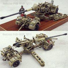 German Pak 43/3 L/71 1/35. Modeler Swan #scalemodel #plastimodelismo #miniatura #miniatur #maqueta #maquette #modelismo #scalemodelkit #plastickits #usinadoskits #udk #hobby