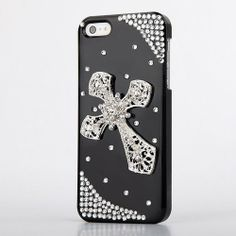 Deluxe 3D Bling Crystal Diamond Cross Hard Back Case Cover for iphone 4 4s 5 #itsok #goshopping  #trendy #cute #fashionbags #purses #cellphone #wallets #jewelry #countrygirl #divas