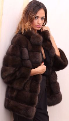 Russian Barguzin Sable Fur Jacket