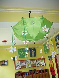 Spring umbrella - New Deko Sites Kindergarten Design, Kindergarten Crafts, Preschool Crafts, Spring Projects, Spring Crafts, Animal Crafts For Kids, Art For Kids, Infant Room Daycare, Emoji Coloring Pages