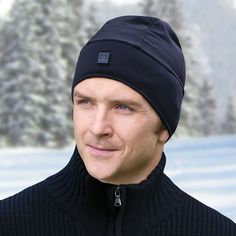 2bc886d916a The Heated Hat - This is the plush microfleece hat that generates up to  five hours