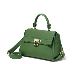 """Medium Sofia featuring gold Gancio closure, inside pockets, cell phone holder, back zip pocket, single handle with 4.5"""" drop and a removable shoulder strap with 21"""" drop. Lined in leather and suede.Collection SS 2016"""
