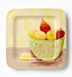 VIETRI - Sara's Fruit Square Wall Plate: We have this at the store