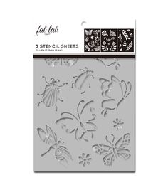 Stencil Sheet Set 38 Designs NAUTICAL Sail Ocean  3 pc Plaid Folkart Plastic