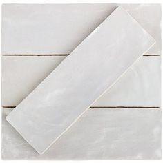 Montauk Gin 2x8 Ceramic Wall Tile White Kitchen In