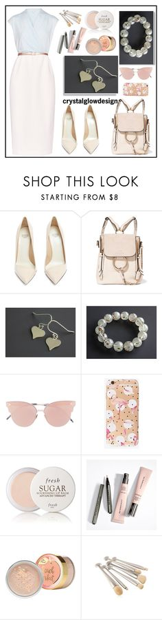 """cristalglowdesign"" by merisa-imsirovic ❤ liked on Polyvore featuring Ted Baker, Francesco Russo, So.Ya and Fresh"