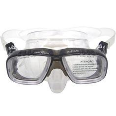 218ddf277 Máscara de Mergulho X-Dive Nautika com Lente Dupla e Protetor Nasal Preto