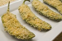 A baked,healthier version of one of my favorite bar foods-Jalapeno poppers.