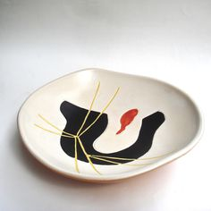 Coupelle céramique signé Era Orlando, Capron  Années 50