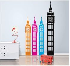Love these #London-Inspired #BigBen wall #decals.