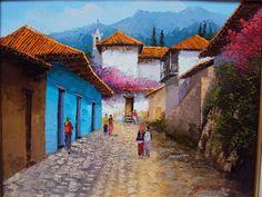 paisajes andinos al oleo por     Jose Mauricio Andino Garay