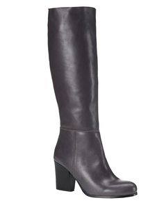 All New Arrivals | Grey Avaline Slouchy Leather Boot | Phase Eight