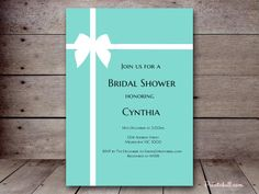 Tiffany and Co Bridal Shower Ideas Themes - Brautparty Ideen Printable Bridal Shower Games, Baby Shower Printables, Bridal Shower Invitations, Shower Favors, Birthday Invitations, Shower Party, Party Printables, Tiffany Blue Invitations, Tiffany Und Co