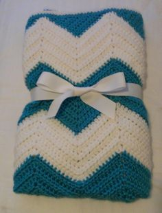 ready to ship crocheted chevron baby blanket by sweetfaithboutique, $37.00