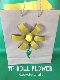 TP Roll Flower Recycle Craft A fun recycle craft with the colour yellow as focus!