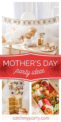 Take a look at this beautiful daisy-themed Mother's Day party! The table settings are gorgeous! See more party ideas and share yours at CatchMyParty.com #catchmyparty #partyideas #mothersday #daisy Mothers Day Cake, Mothers Day Brunch, Party Drinks, Party Favors, Rustic Cake, Balloon Garland, Party Cakes, Fourth Of July, Memorial Day